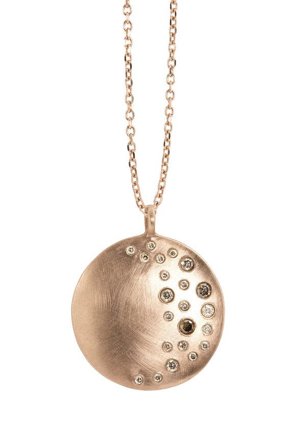 Julez Bryant 14K Rose Gold Mina XL Champagne Diamond Necklace