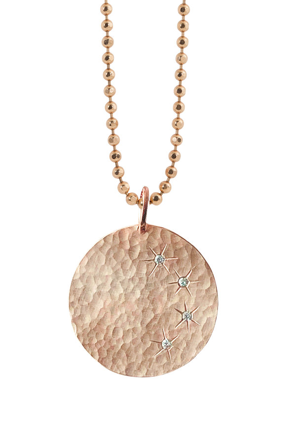 Julez Bryant 14K Rose Gold Mine Hammered Pendant Necklace