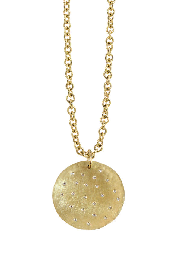 Julez Bryant 14K Yellow Gold Mona Pendant Necklace