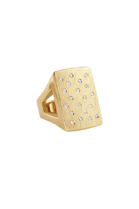 Julez Bryant 18K Yellow Gold No.1 Rectangular Block Ring