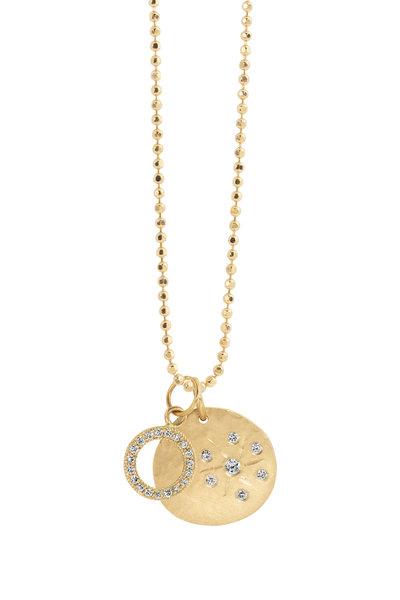 Julez Bryant - 14K Yellow Gold Skye Two Pendant Necklace