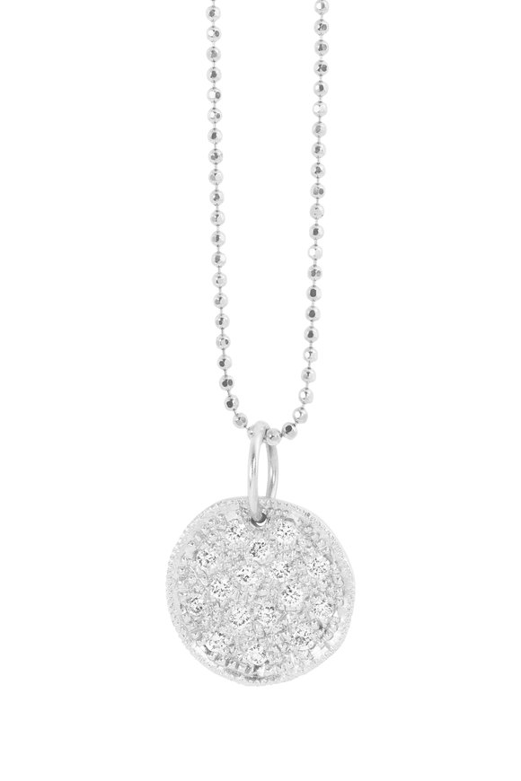 Julez Bryant 14K White Gold Soul Disc Pendant Necklace