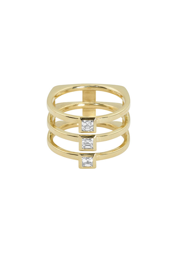 Julez Bryant 14K Yellow Gold Theo Triple Diamond Ring