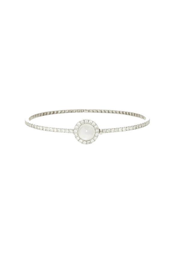 Nam Cho 18K White Gold Moonstone Bracelet