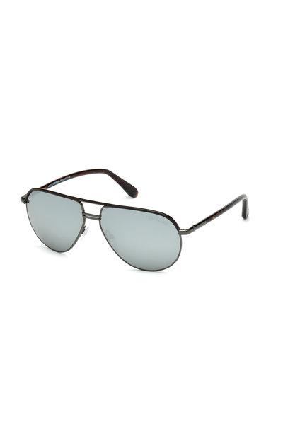 Tom Ford Eyewear - Cole Dark Havana Aviator Sunglasses