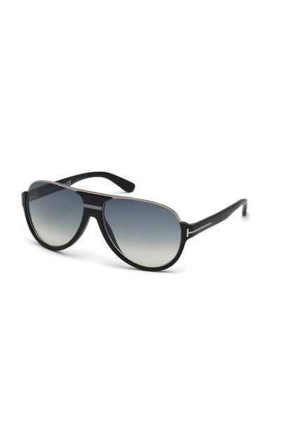 Tom Ford Eyewear - Dimitry Matte Black Vintage Aviator Sunglasses