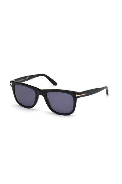 Tom Ford Eyewear - Leo Shiny Black Square Sunglasses