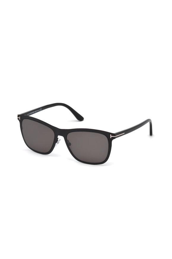 Tom Ford Eyewear Alasdhair Matte Black & Smoke Sunglasses