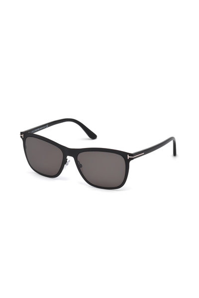 Tom Ford Eyewear - Alasdhair Matte Black & Smoke Sunglasses