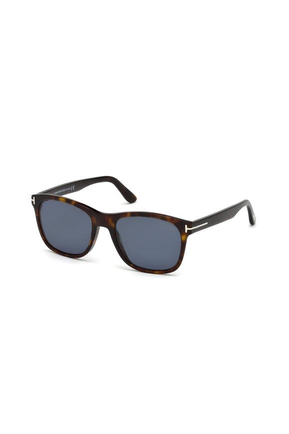 Tom Ford Eyewear Eric Dark Havana Polarized Sunglasses