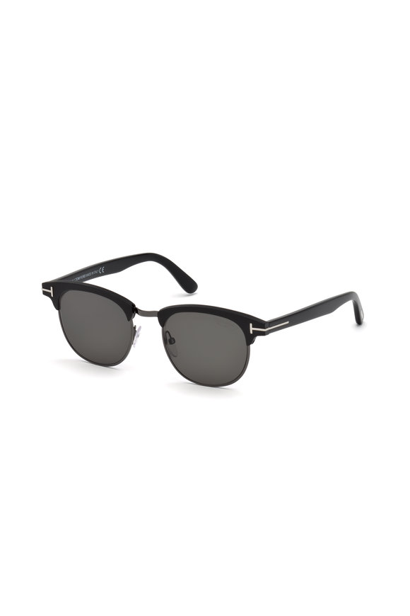 Tom Ford Eyewear Laurent Matte Black Polarized Sunglasses