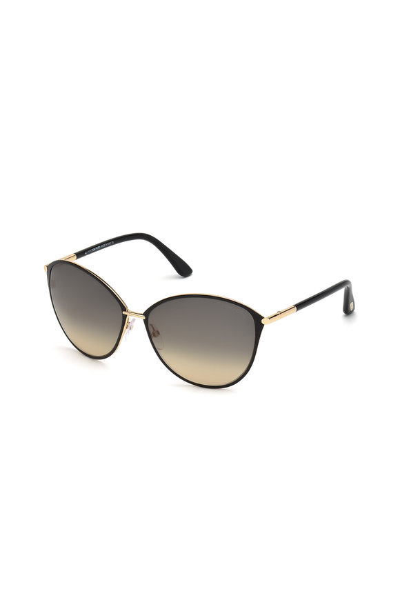 Tom Ford Eyewear Penelope Shiny Rose Gold Sunglasses