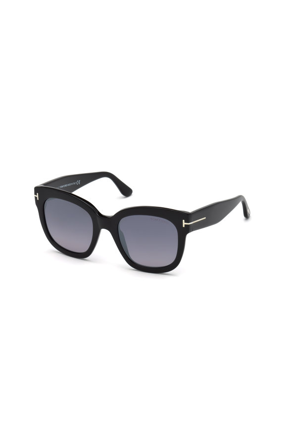 Tom Ford Eyewear Beatrix Shiny Black Mirror Sungless