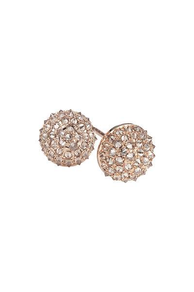 Nam Cho - Rose Gold Champagne Diamond Stud Earrings