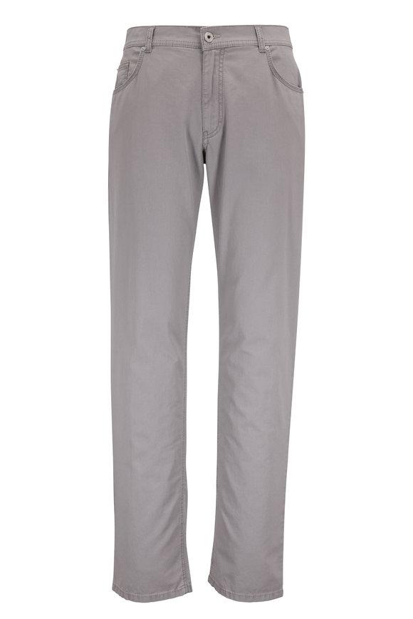 Brax Cooper Fancy Gray Five Pocket Pant