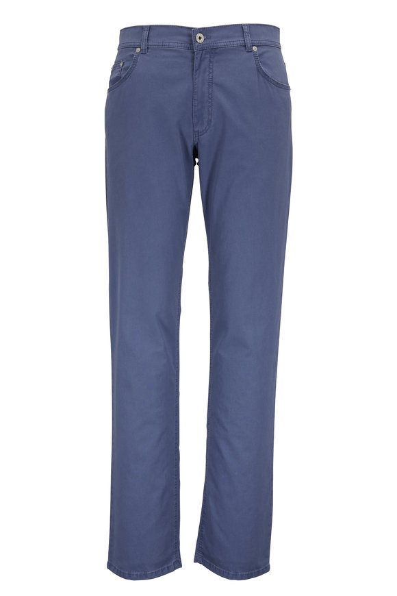 Brax Cooper Fancy Blue Regular Fit Pant
