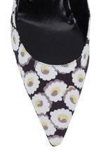 Manolo Blahnik - Lisa Black & White Floral Print Pump, 50mm