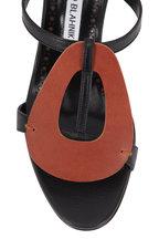 Manolo Blahnik - Eudokia Black & Brown Oval Slingback, 70mm