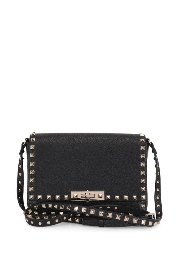 Valentino Garavani Rockstud Black Leather Small Crossbody Bag