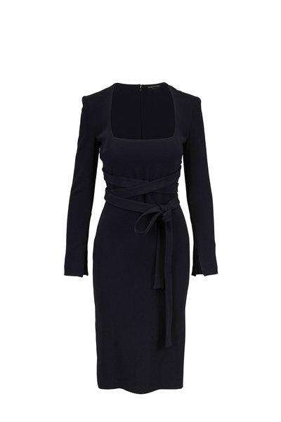 Tom Ford - Black Jersey Wrap-Tie Dress