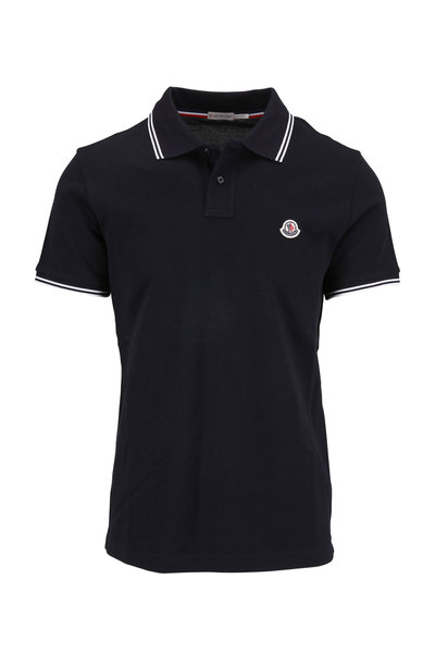 Moncler - Navy Cotton Logo Polo