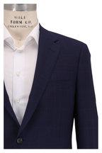 Samuelsohn - Bennet Navy Blue Windowpane Wool Suit