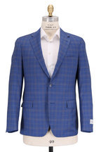Samuelsohn - Bristol2 Bright Blue Plaid Wool Sportcoat