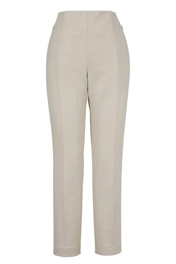 Akris Conny Canvas Cotton & Silk Pant