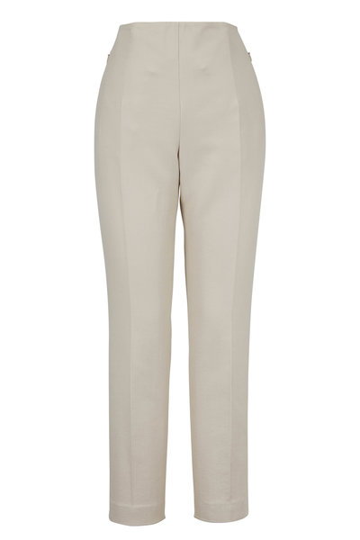 Akris - Conny Canvas Cotton & Silk Pant