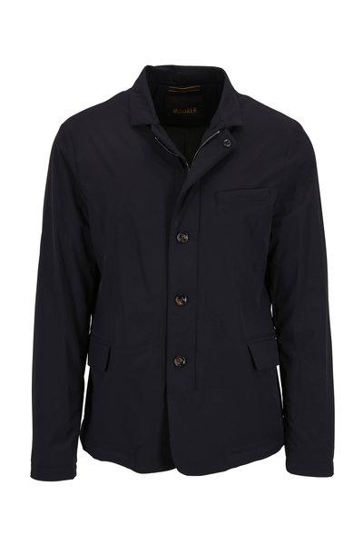 Moorer - Tebaldo-KN Dark Blue Classic Fit Jacket