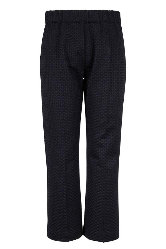 D.Exterior Black Jacquard Pull-On Pant