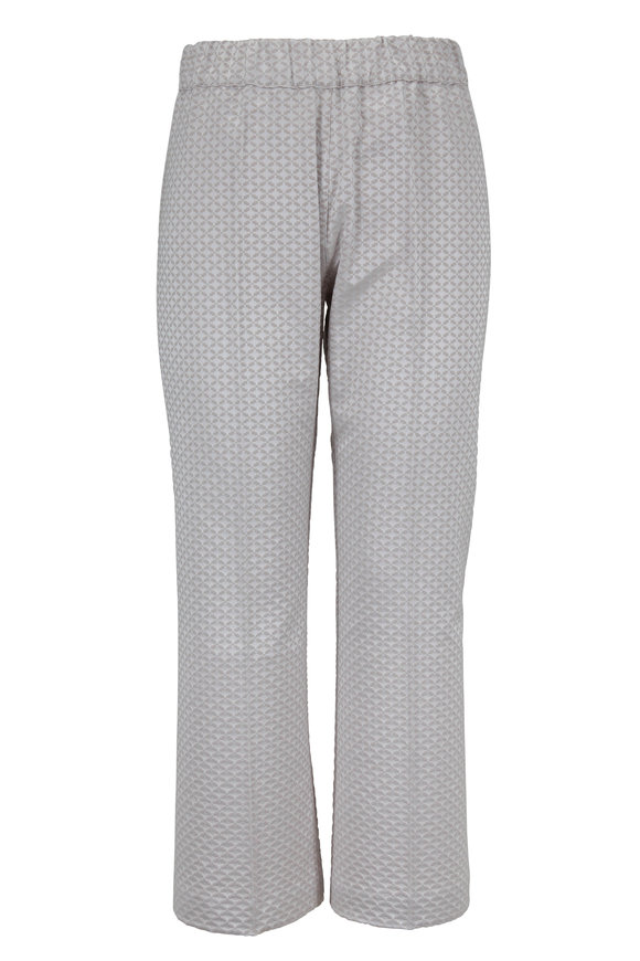 D.Exterior Silver Geometric Jacquard Bootcut Pull-On Pant