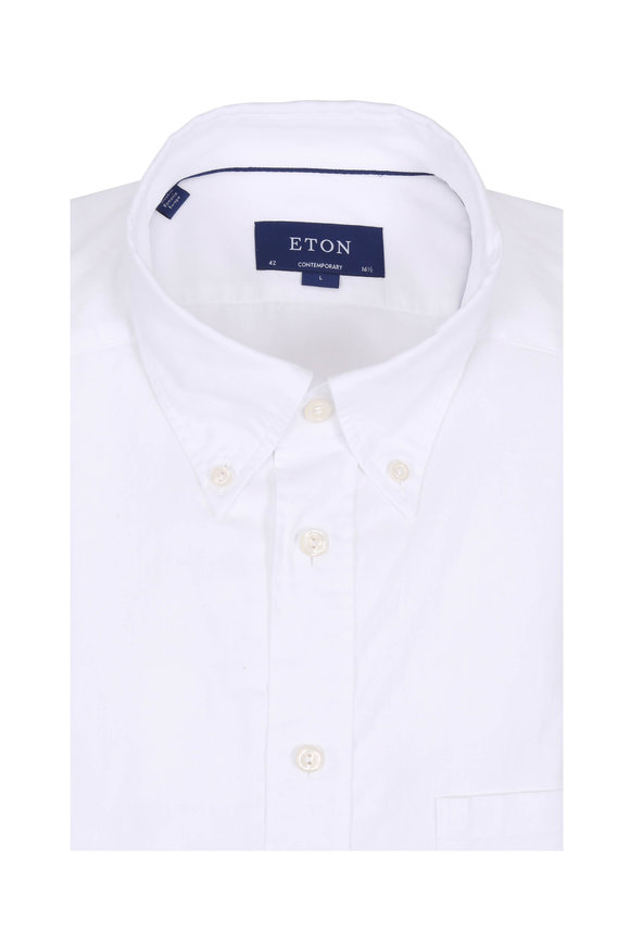 Eton White Contemporary Fit Sport Shirt