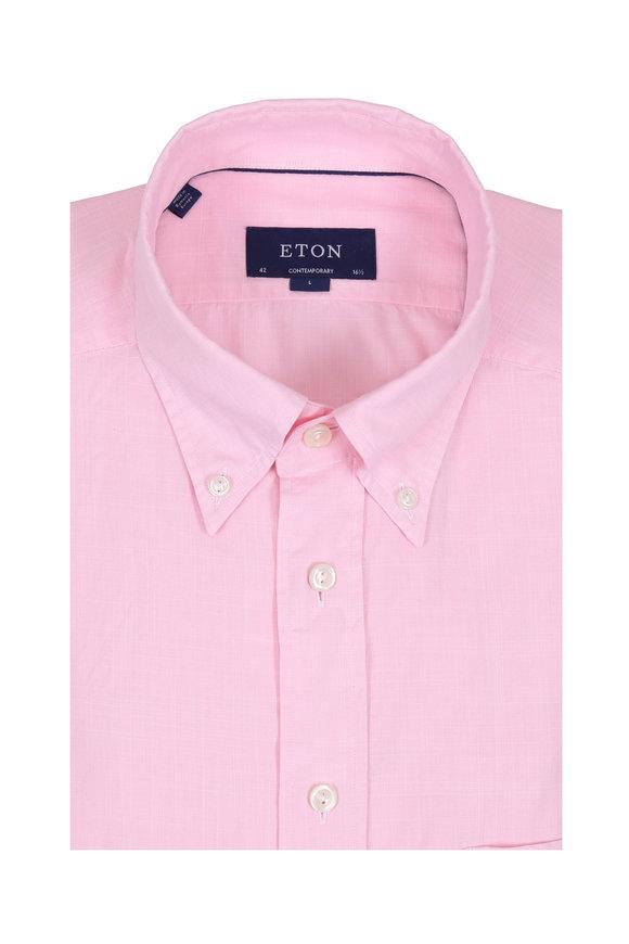 Eton Light Pink Contemporary Fit Sport Shirt
