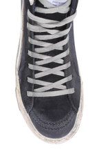 Golden Goose - Slide Navy Blue Denim High Top Sneaker