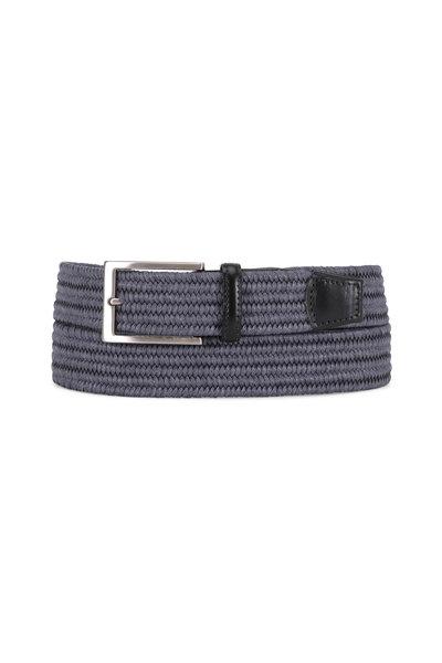 Torino - Slate Blue Woven Stretch Braided Belt