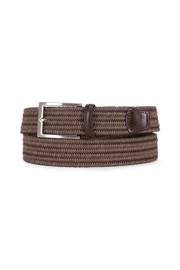 Torino Cognac Melange Woven Braided Belt