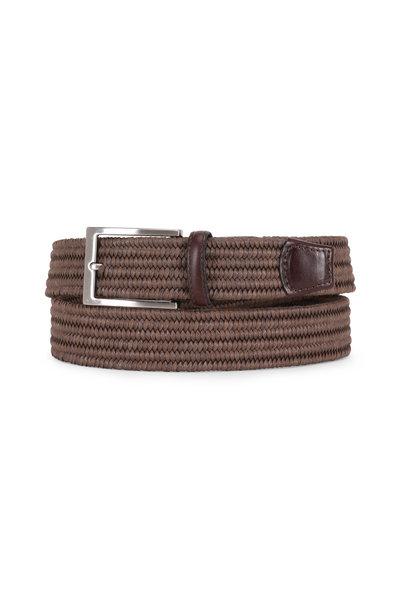 Torino - Cognac Melange Woven Braided Belt