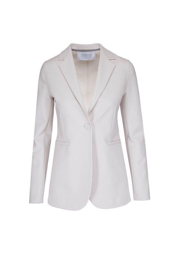 Harris Wharf White Stretch Crêpe Blazer