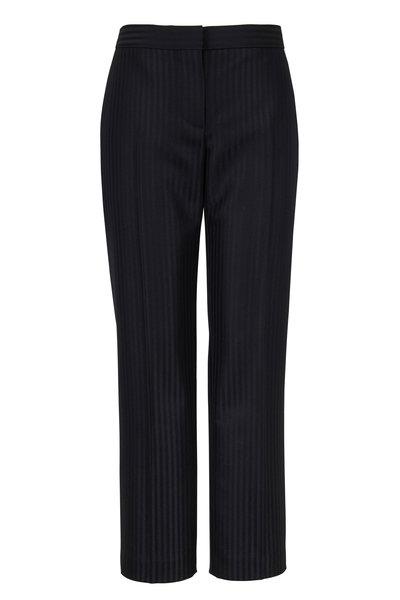 Alexander McQueen - Black Tonal Stripe Cigarette Leg Tailored Pant