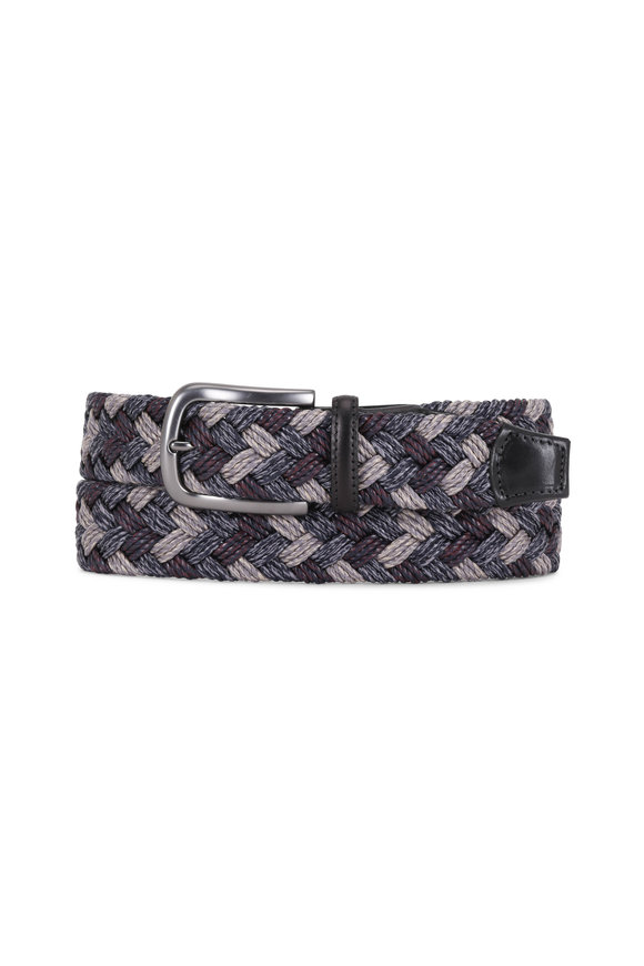 Torino Gray Braided Belt