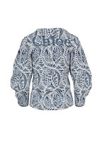 Chloé - Blue & White Jacquard Top