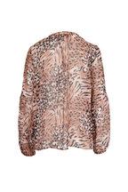 PAIGE - Beretta Faded Animal Print Silk Blouse