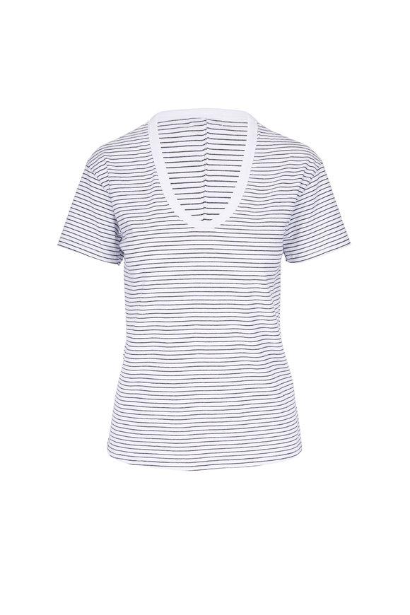 AG - Adriano Goldschmied Hensen Black & White Striped T-Shirt