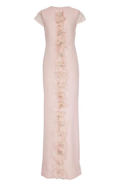 Olivine Gabbro - Mauve Illusion Cube Cap-Sleeve Gown