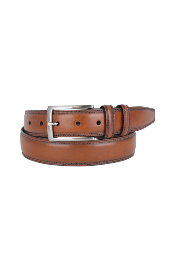 Torino Walnut Leather Belt