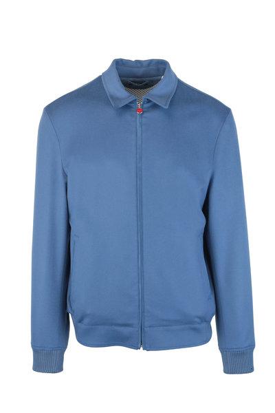 Kiton - Blue Cashmere Bomber Jacket