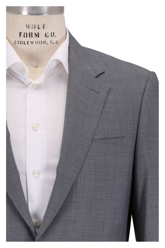 Canali Charcoal Gray Wool Tic Suit