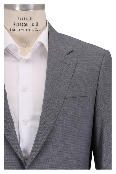 Canali - Charcoal Gray Wool Tic Suit