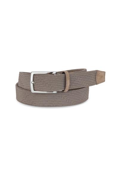 Torino - Khaki Woven Elastic Belt